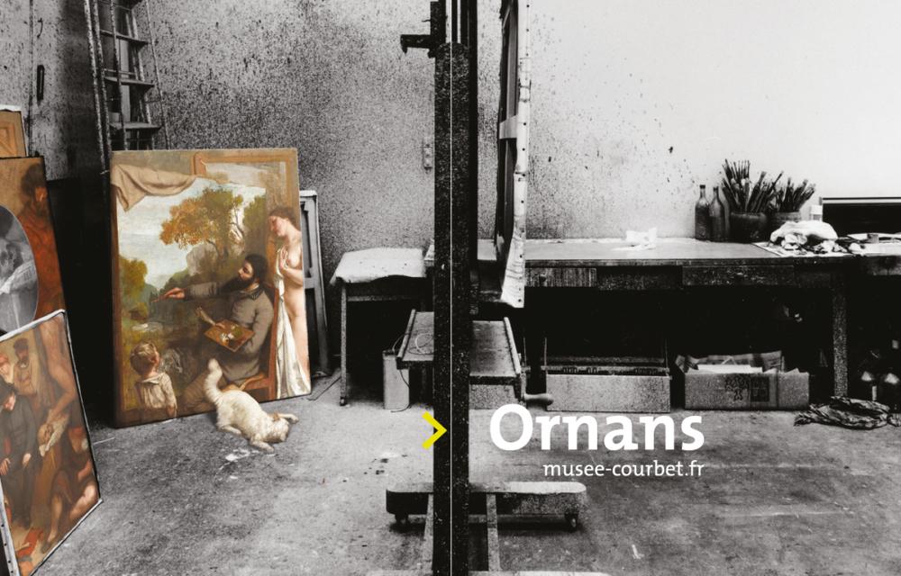 Elements de l'affiche de l'exposition 2017 du musée Courbet d'Ornans