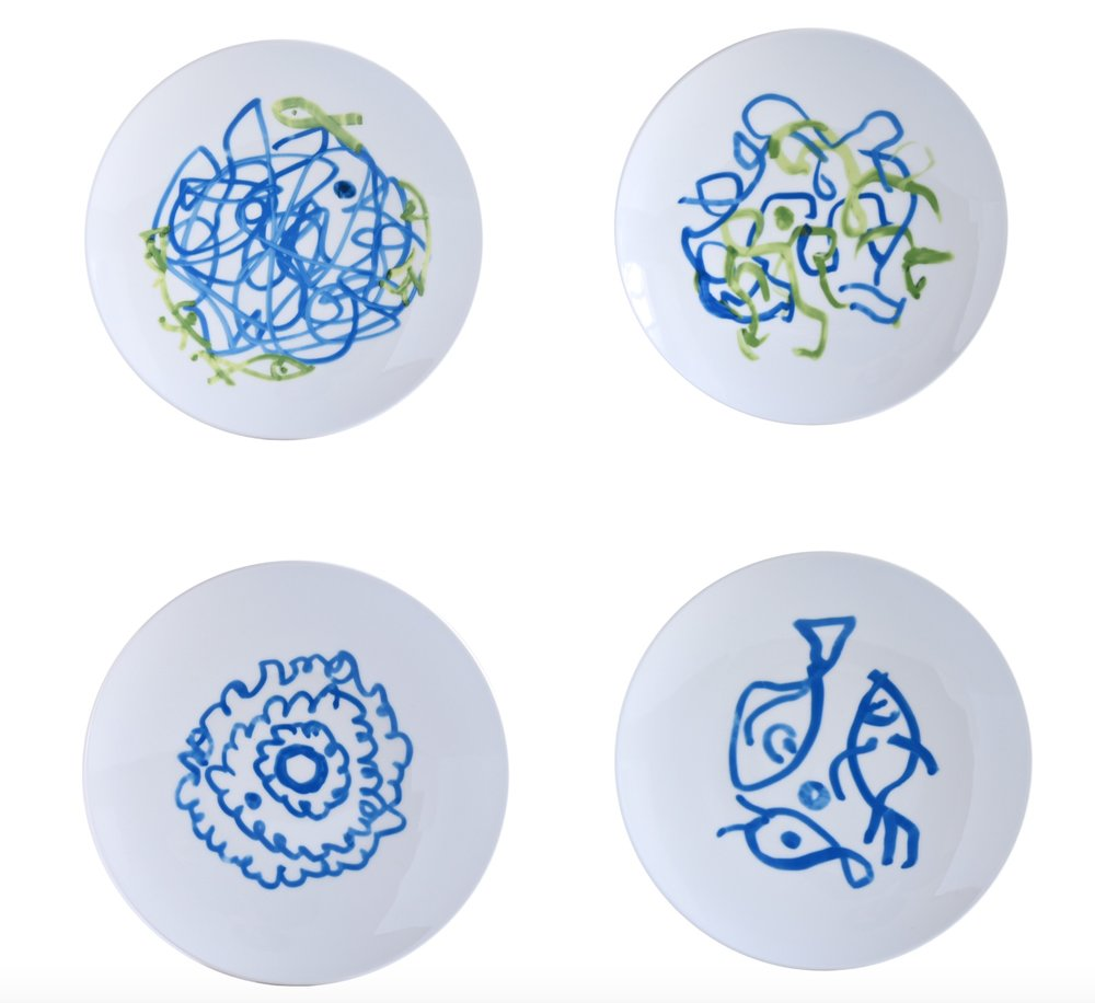 Bernardaud Four Plates Zao Wou-Ki (21 cm)