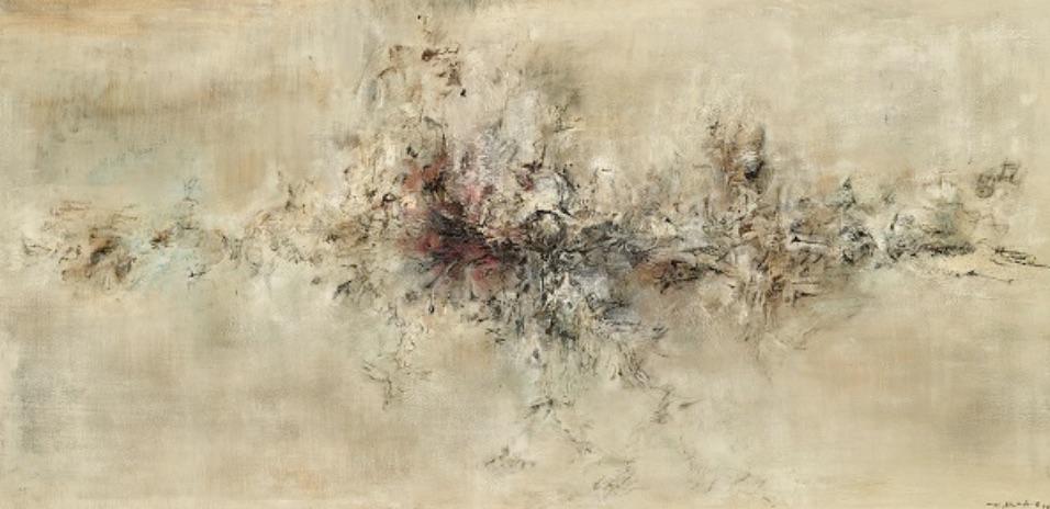Zao Wou-Ki, Traversée des apparences, 1956, Huile sur toile, 97×195 cm, collection particulière, Photo : Dennis Bouchard, Zao Wou-Ki © ADAGP, Paris, 2018