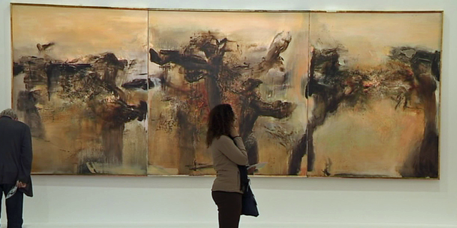 """""""L'espace est le silence"""" exposition Zao Wou-Ki au musée d'art moderne de la ville de Paris © France 3 / Culturebox"""