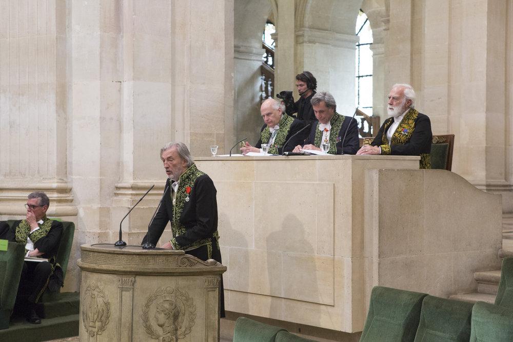 Jean-Marc Bustamante's appointment at the académie des beaux-arts 02. DR