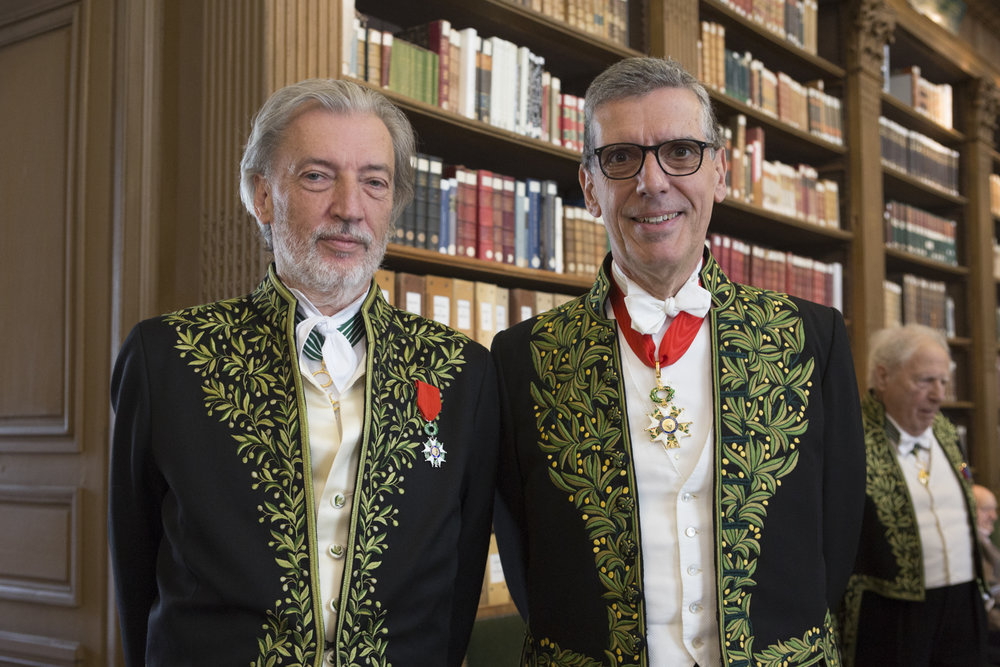 Jean-Marc Bustamante and Henri Loyrette. DR