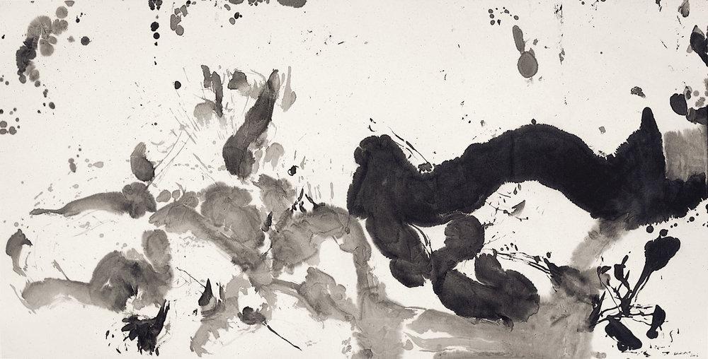 Sans titre, encre de Chine sur papier, 2006 (125,5 x 246,5 cm). DR.