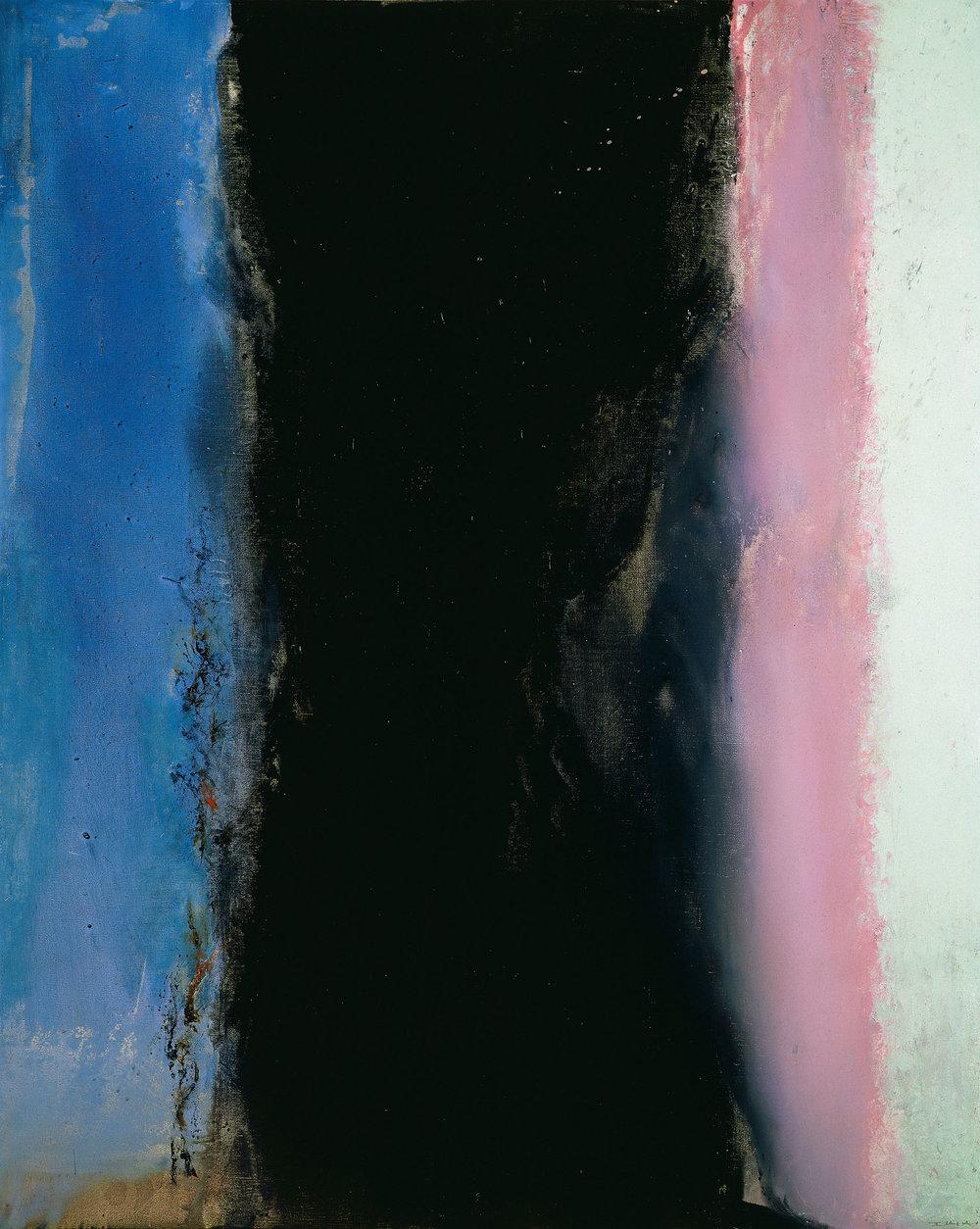 Hommage à Matisse I – 02.02.86, huile sur toile, 1986 (162 x 130 cm). DR.