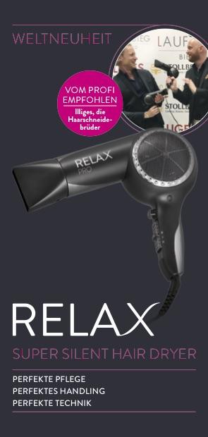 Die neue überarbeitete Harrtrockner-Generation des Relax Silent für nur 50,00 €