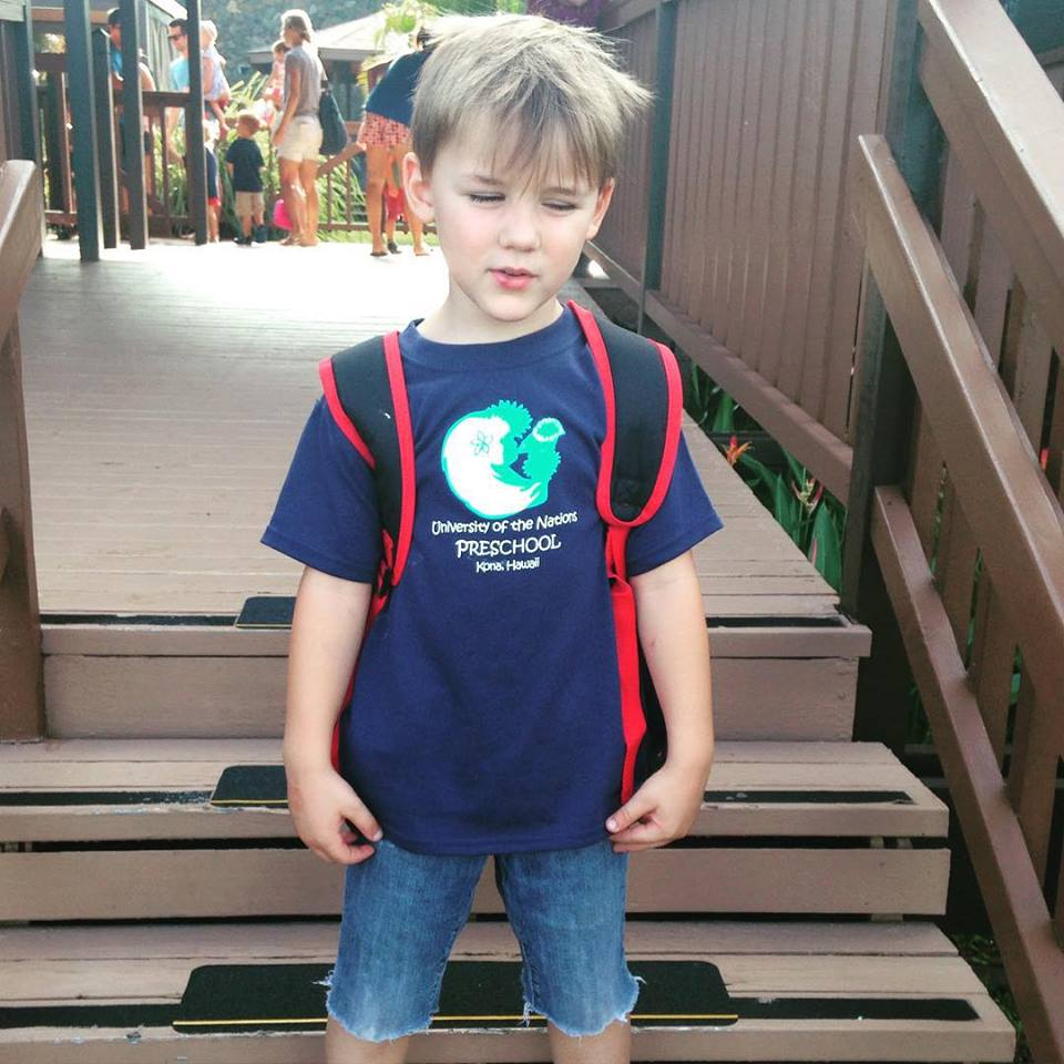 on his first day of Kindergarten , ' Mom, do I HAVE to smile?'