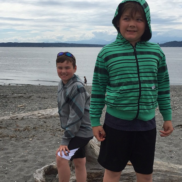 Carter flew to Seattle BY HIMSELF this summer to visit his good buddy Logan!