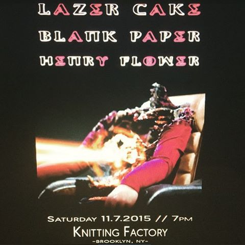 Awwwwww snap.  Check out the flyer @hnry_flwr made for our show @knittingfactorybk this Saturday.  While you're at it, check out their music on Soundcloud.  It's great stuff and we are stoked for them to make their live debut with us.  See you soon! #newmusic #brooklyn #pleasedontblameourlazerforthatpoorguyinthechair