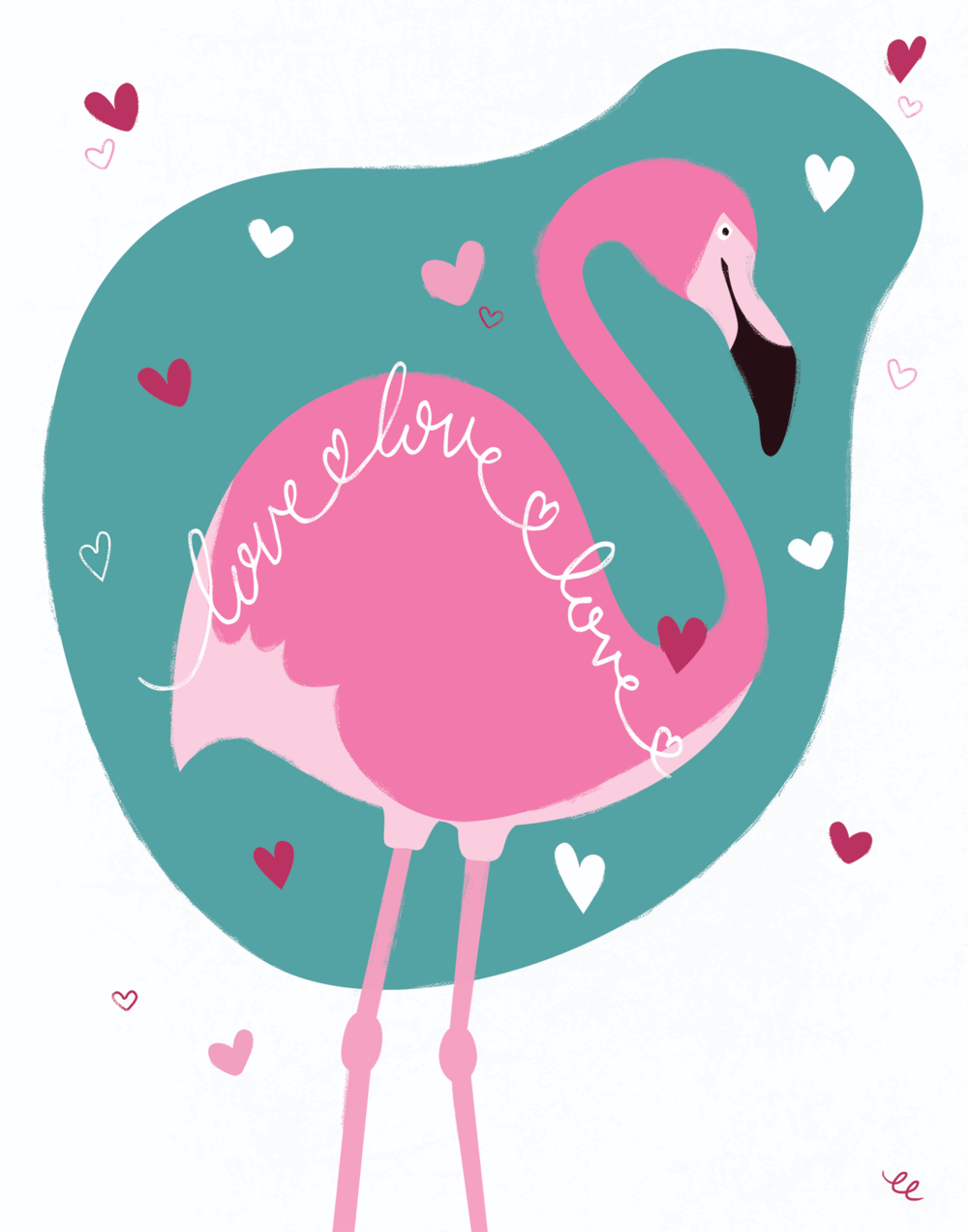 WEEK 6: a Loving Flamingo