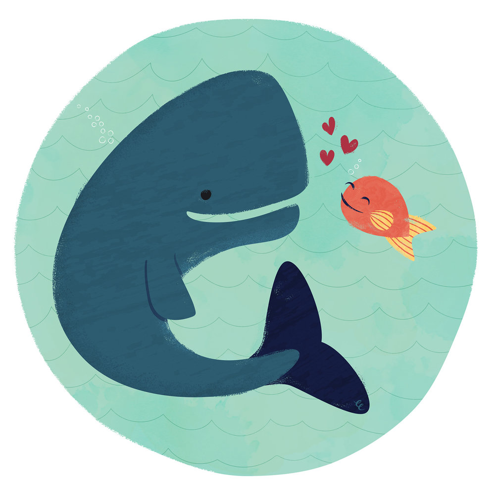 Week 44,  Whale and Fish are Friends