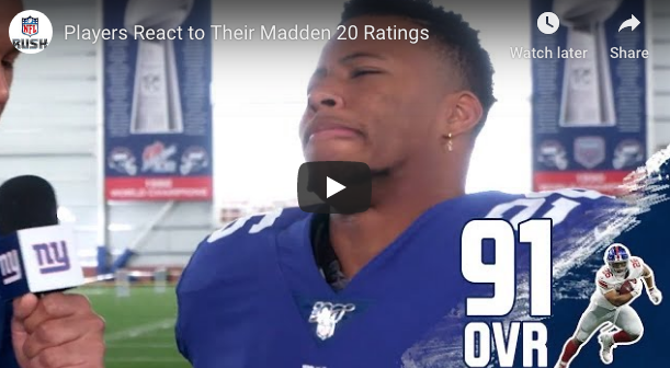 😂 NFL Players Show Funny Reaction To Their Madden Rating