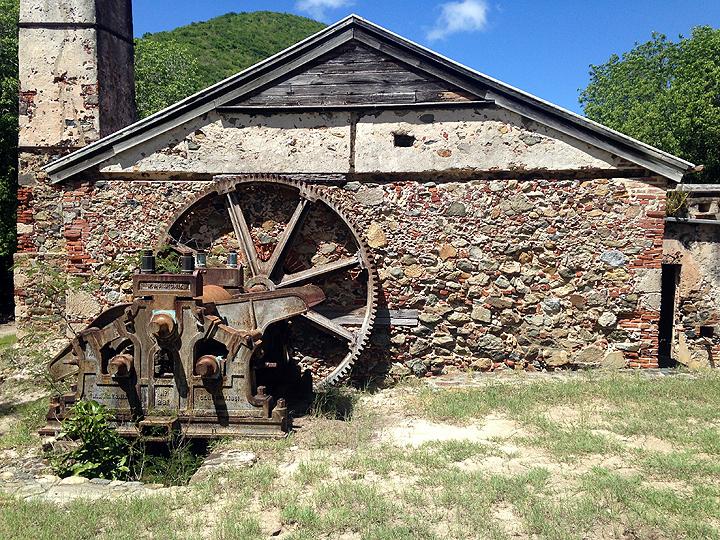 Sugar mill ruin.