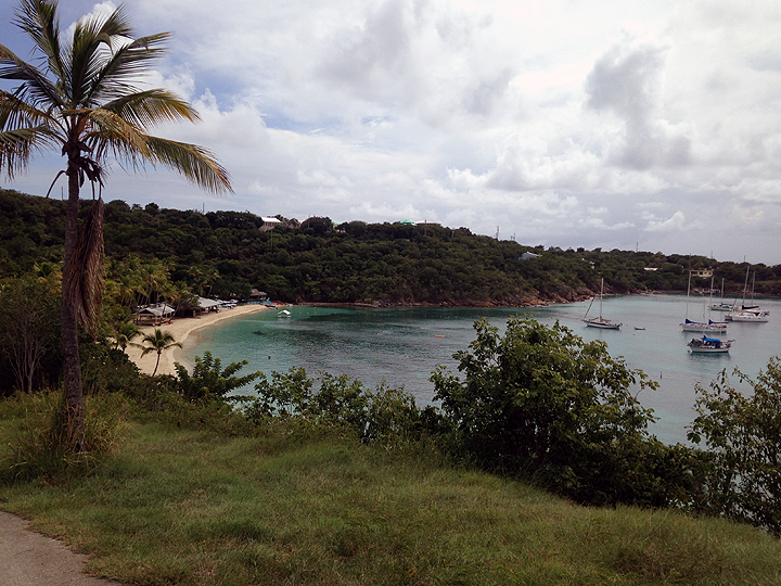Honeymoon Cove: a welcome sight at the end of our Water Island hike.