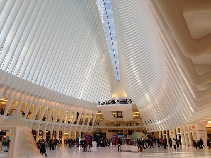 Playin' tourist at the World Trade Center Transit Hub.