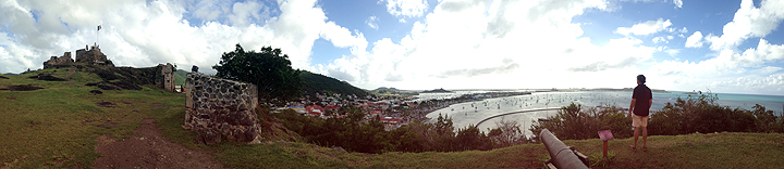 Atop Fort Louis overlooking Marigot Bay