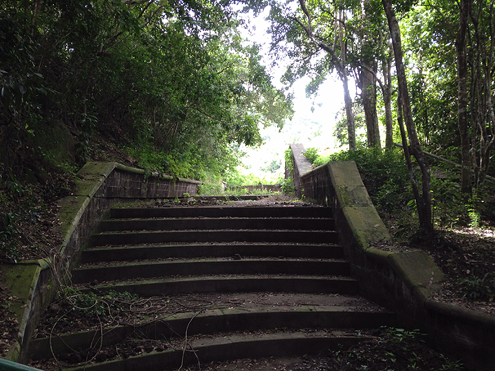Ruins of British water control system at Potswork Dam Park