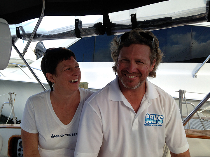 Captain Chris Anderson and Tracey Ray (a third crew member arrived after we left).
