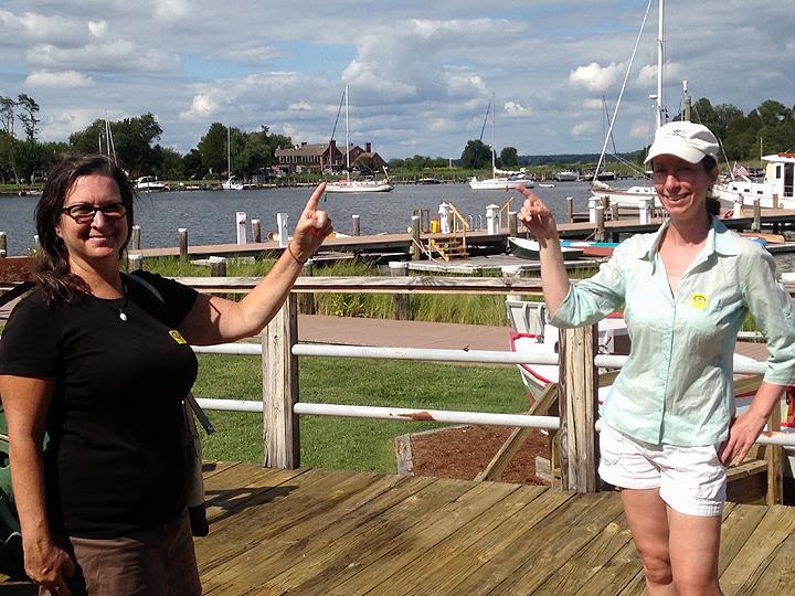 S/V Delancey and S/V Kittiwake anchored in St. Michaels, Maryland