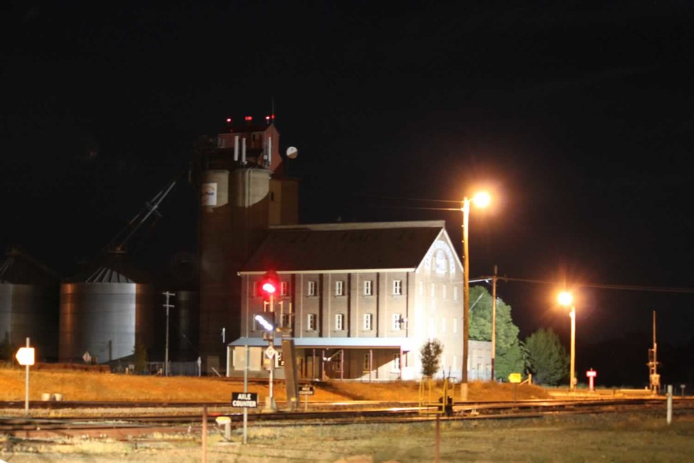 Night time picture of the Silo.