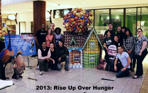 2013: Rising Up Over Hunger   Can Count: 1200 | Total Donations: $1825