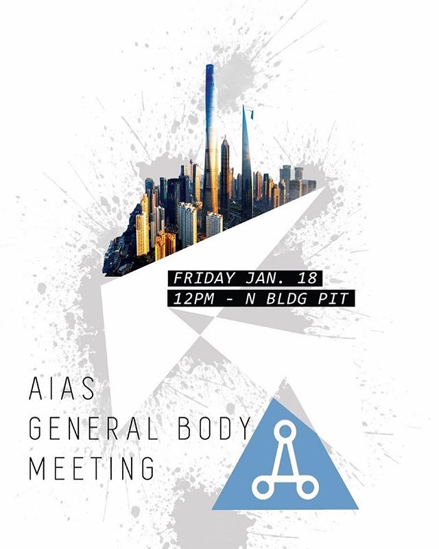 Hey everyone! Our General Body Meeting is today at 12:00 PM in the pit! Well be discussing upcoming events and the details. Don't miss out!