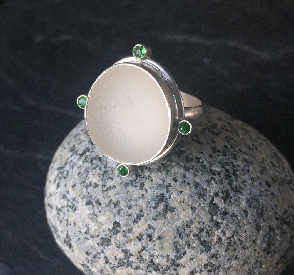 Seaglass Rings Lisa Hall Jewelry Lisa Hall Jewelry