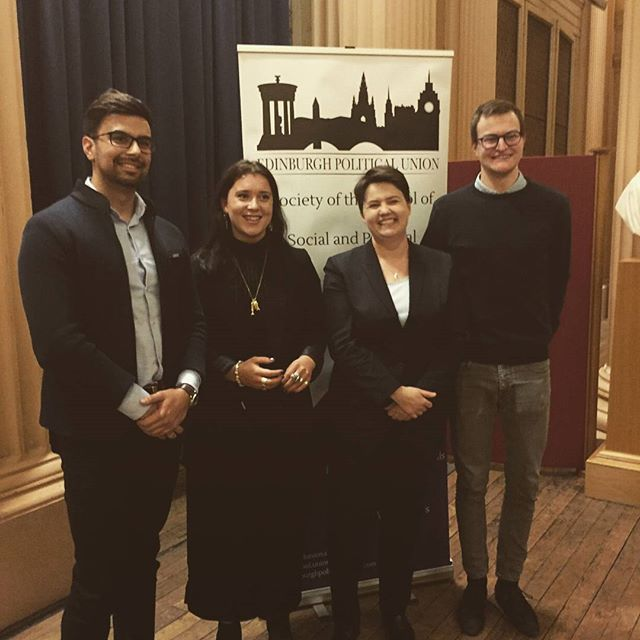 An insightful discussion this evening with the leader of the Scottish Conservatives, Ruth Davidson! Thank you to all who attended and stay tuned for more  EPU events next month.