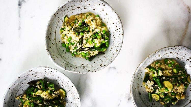 Risotto Primavera — the hungry chook