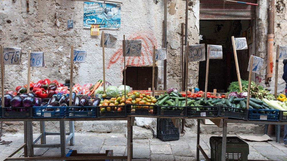 Mercato di Ballaro, Palermo, Sicily -March 2017