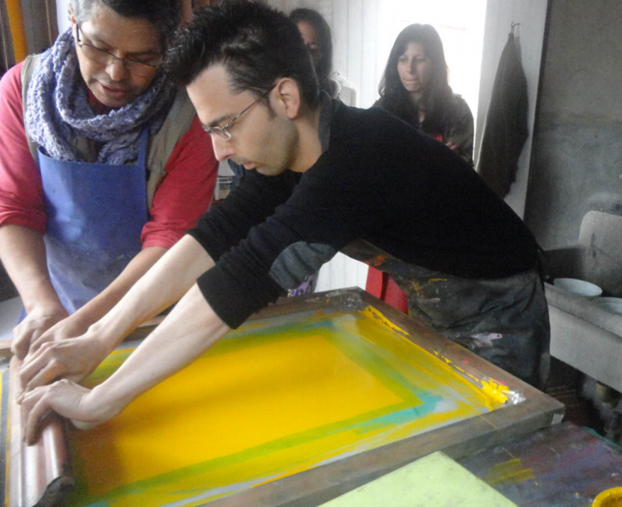 Silk screen Workshop by Tailored Tours Peru
