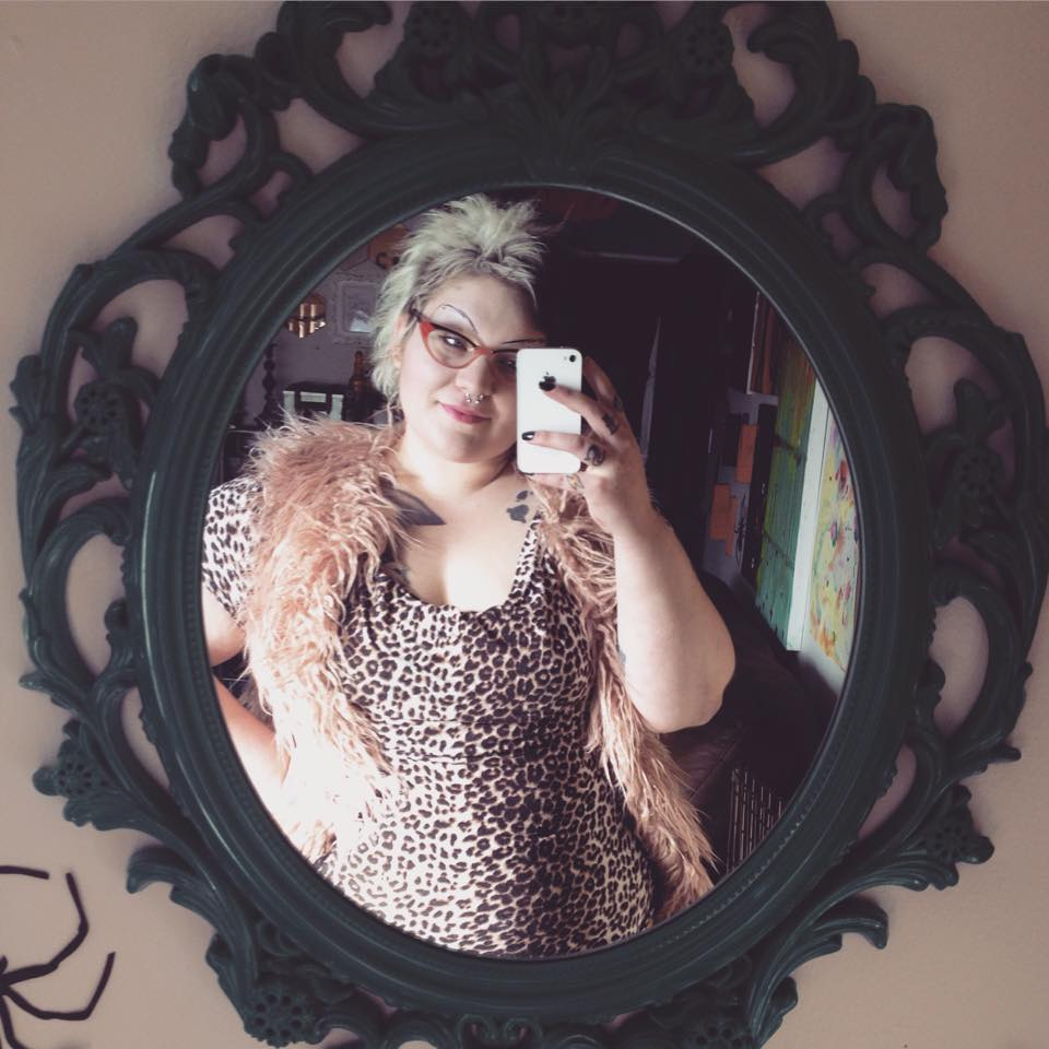 Furry mauve vest from Target
