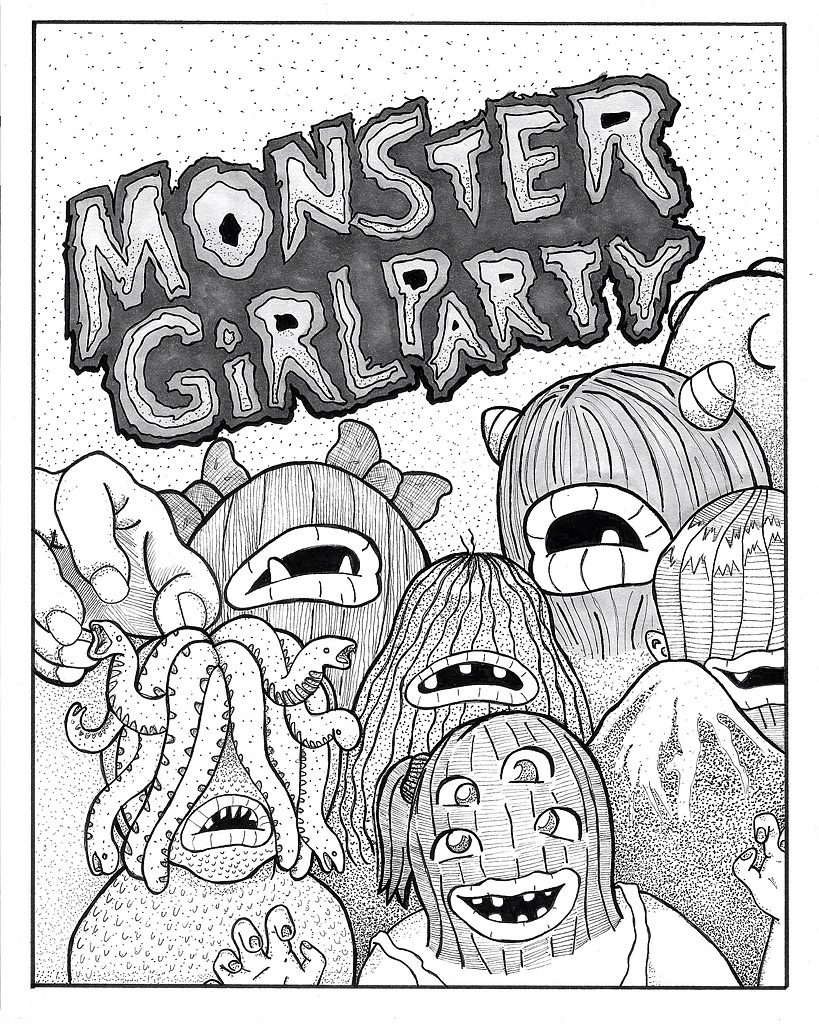 Sneak peak- the cover of Monster Girl Party's upcoming zine!