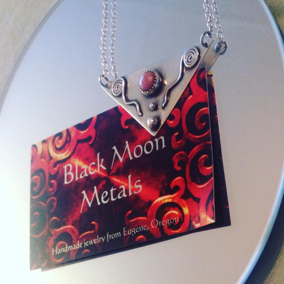 The necklace Black Moon Metals created for me