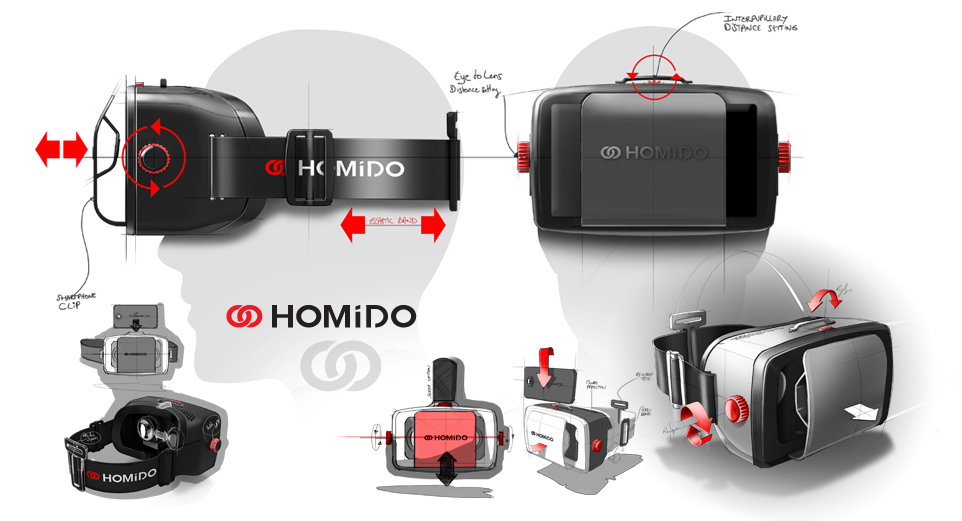 Homido: Virtual Reality Headset, available for purchase from Homido.com
