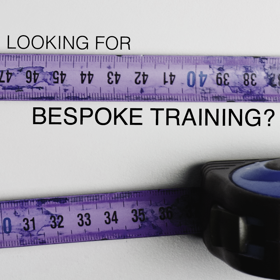 Find out more about bespoke training courses