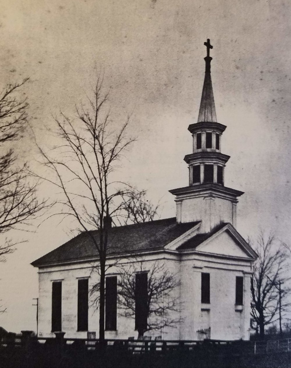 Early photo of Christ Church Redding