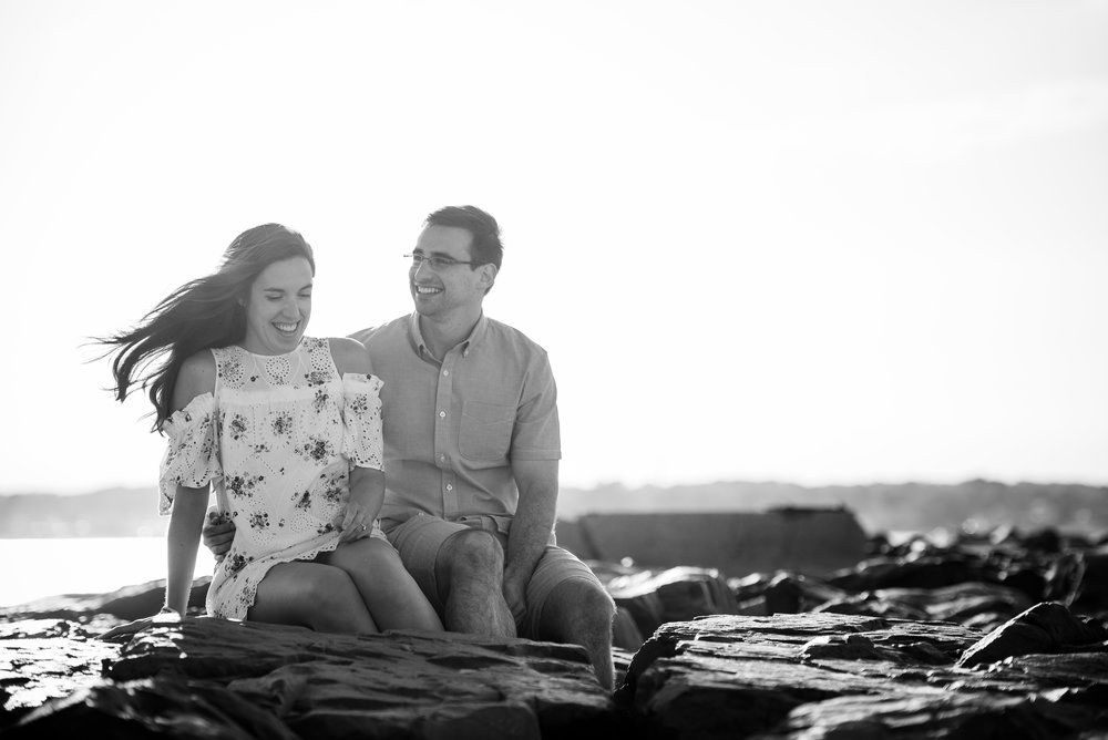Manasquan Beach Engagement Photos Maria 1