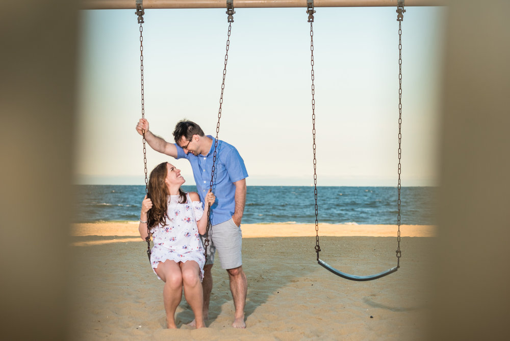 Manasquan Beach Engagement Photos Maria 8