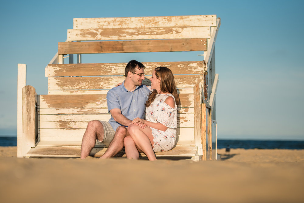 Manasquan Lifeguard Beach Engagement Session