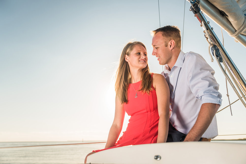 Brant Beach Yacht Club LBI Engagement Photos