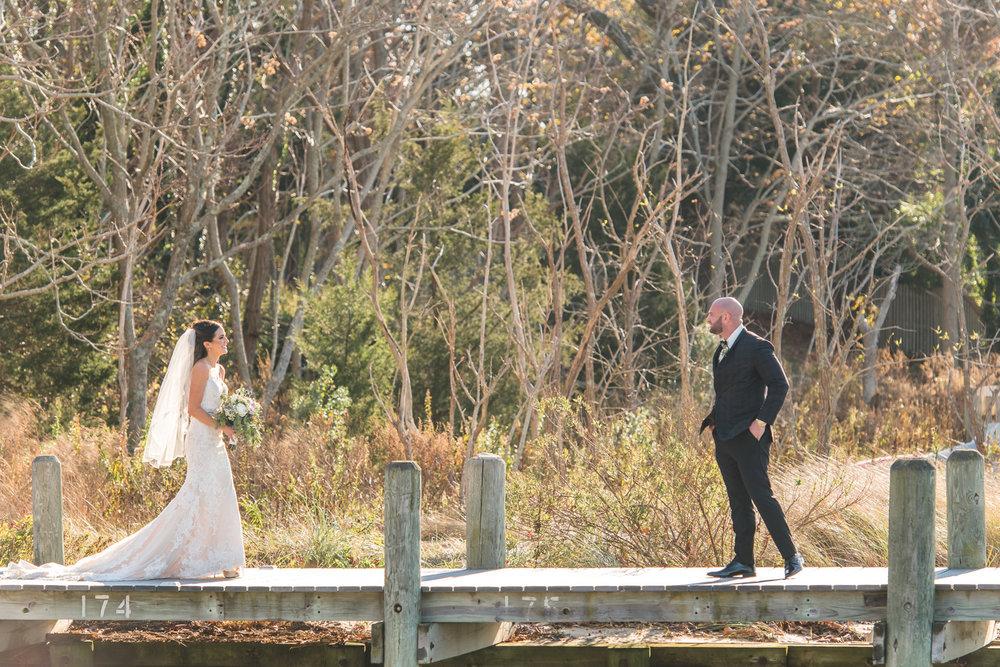 Clarks Landing Wedding Photos Bride and Groom First Look