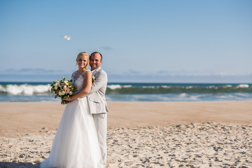 Surf City Yacht Club Long Beach Island Beach Wedding Portrait