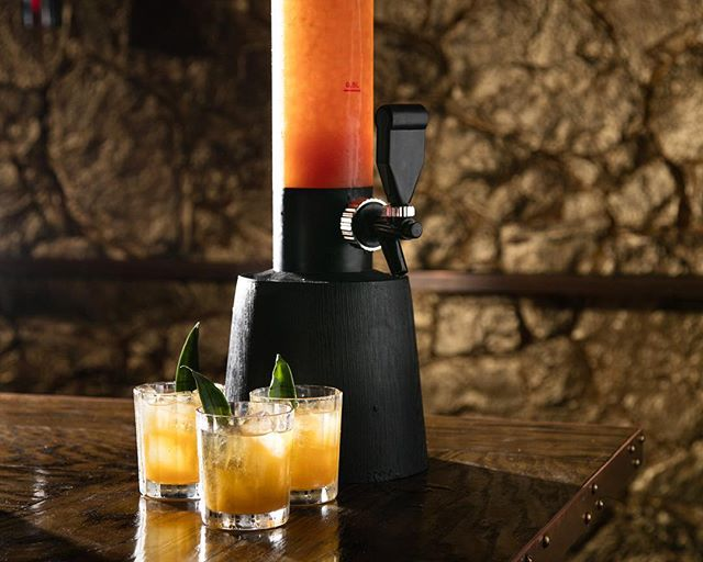It's a Scorpion Tower kind of Thursday here at #151nyc. This hefty drink serves 8-10 Tiki achievers, so bring your friends and let's have a party! #drinkat151 or don't, whatever. 📷 @ericmedsker