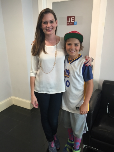 Shannon and one of her models, Owen Estee, at the agency. / Photo Courtesy Shannon Escoto