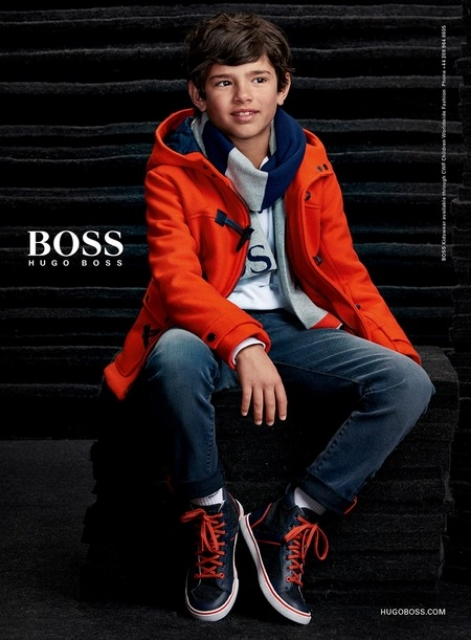 One of Shannon's models, Rocco, for Hugo Boss. Copyright Hugo Boss / Photo COurtesy Shannon Escoto