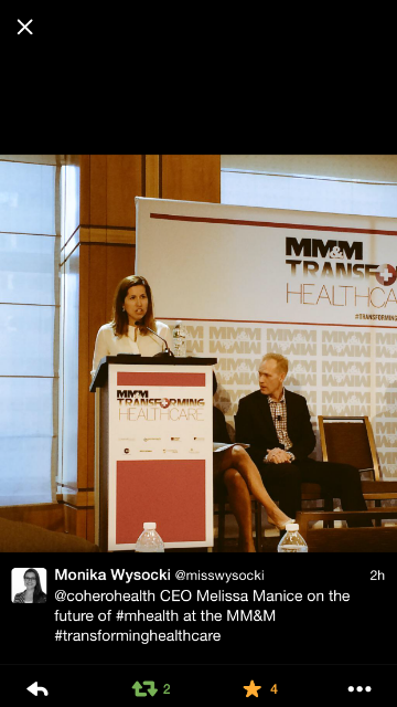 Giving an industry talk on the Biggest Healthcare Trends in the next 10 years/ Photo Courtesy Melissa Manice