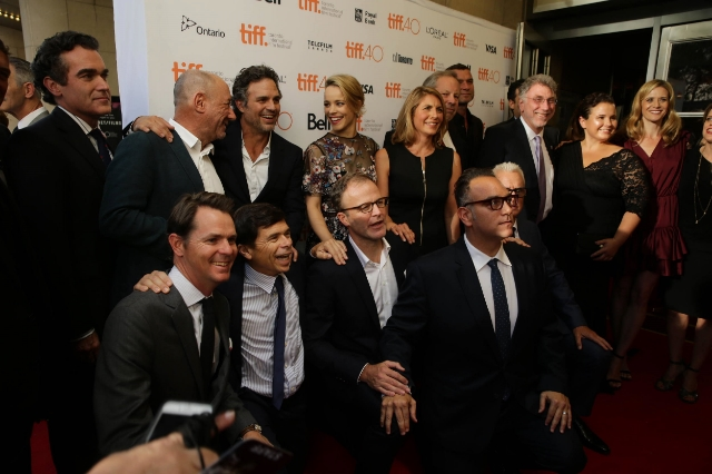 THE SPOTLIGHT TEAM AT THEIR TORONTO FILM FESTIVAL PREMIERE / Photo COURTESY OF MARK BLINCH/REUTERS