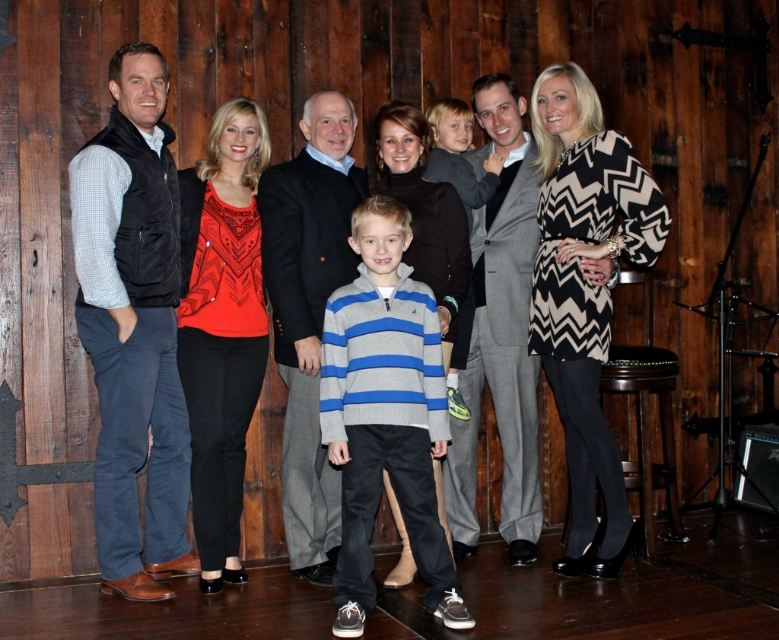 Courtney with her family from Dayton, Ohio.  (From Left:  her husband Jared, Courtney, Father John Reagan, Mother Brenda Reagan, Brother Johnny Reagan, Sister-In-Law Heather Reagan and nephews Gavin and Brody). / Photo Courtesy Courtney Reagan