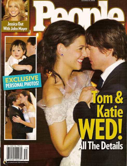 Tom Cruise and Katie Holmes Wedding Featured in People Magazine / Photo Courtesy People Magazine