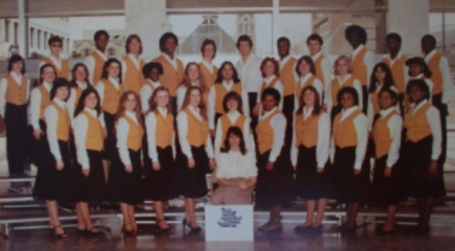Millington Central High School Concert Choir + First Soprano: Hit The High Note (front, far right) / Photo Courtesy Of MCHS Archive